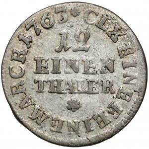 Fryderyk Chrystian, 1/12 talara 1763 IFóF, Lipsk