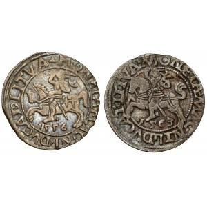 Zygmunt II August, Półgrosze Wilno 1556 i 1563, zestaw (2szt)