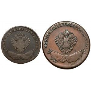 Galicja i Lodomeria, 1 i 3 grosze 1794, zestaw (2szt)