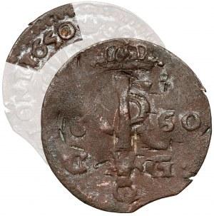 Jan II Kazimierz, Szeląg Bydgoszcz 1650 CG - data na Aw. i Rw.