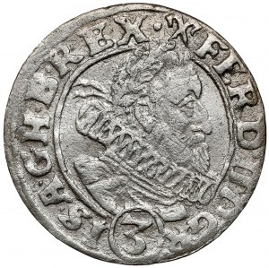 Śląsk, Ferdynand II, 3 krajcary 1630 HR, Wrocław
