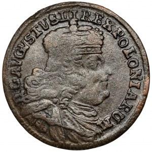 August III Sas, Trojak Lipsk 1754 EC