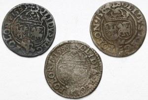 Stefan Batory i Zygmunt III, Szelągi Olkusz 1584-1589 (3szt)