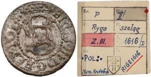 Zygmunt III Waza, Szeląg Ryga 1616 - ex. Kałkowski