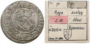 Zygmunt III Waza, Szeląg Ryga 1600 - ex. Kałkowski