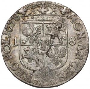 Jan II Kazimierz, Ort Kraków 1658 TLB - bardzo ładny - ex. Kałkowski