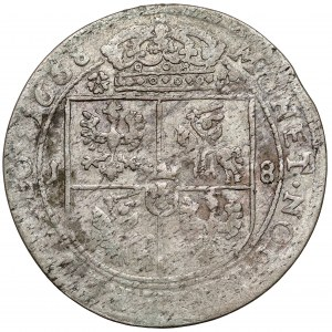 Jan II Kazimierz, Ort Kraków 1668 - Ślepowron - ex. Kałkowski