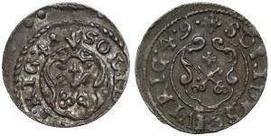 Krystyna Waza, Szeląg Ryga 1641 i 1649 - ex. Kałkowski (2szt)
