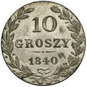 10 groszy 1840 MW, Warszawa - dzioby przymknięte