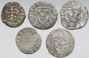 MIX od Jana Olbrachta do Gustawa II Adolfa, zestaw monet srebrnych (5szt)