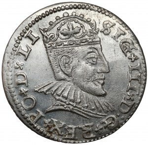 Zygmunt III Waza, Trojak Ryga 1590 - piękny