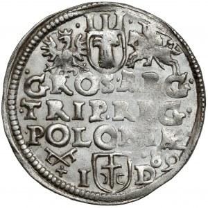 Zygmunt III Waza, Trojak Poznań 1589 ID - piękne lustro