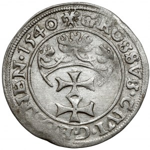 Zygmunt I Stary, Grosz Gdańsk 1540 - PRVSS - ładny