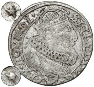Zygmunt III Waza, Szóstak Kraków 1626 - GWIAZDKI na awersie - rzadkość