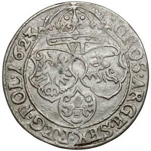 Zygmunt III Waza, Szóstak Kraków 1623 - ozdobna tarcza Snopka