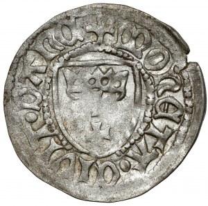 Kazimierz IV Jagiellończyk, Szeląg Gdańsk - lilia / półksiężyc