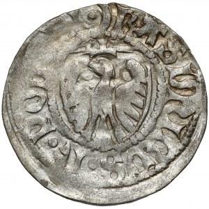 Kazimierz IV Jagiellończyk, Szeląg Gdańsk - podwójny krzyż / półksiężyc