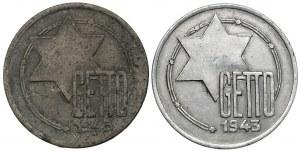 Getto Łódź, 5 marek 1943 Al i Mg (2szt)