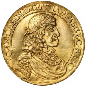 Jan II Kazimierz, DONATYWA 3-dukatowa, Gdańsk - z nominałem (Höhn)