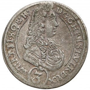Śląsk, Chrystian Ulryk, 3 krajcary 1696 LL, Oleśnica