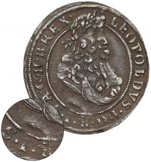 Śląsk, Leopold I, 3 krajcary 1699 FN, Opole - BEZ NOMINAŁU - b.rzadkie