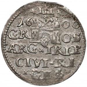 Zygmunt III Waza, Trojak Ryga 1600 - rzadszy