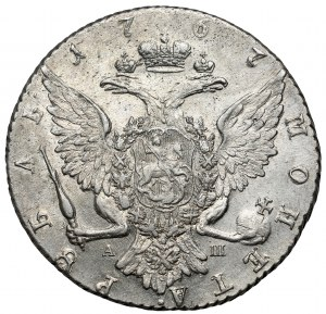 Russia, Catherine II, Rouble 1767 АШ, Petersburg