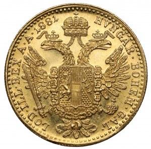 Austria, Franciszek Józef I, Dukat 1881