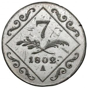 Austria, Franciszek II, 7 krajcarów 1802-A