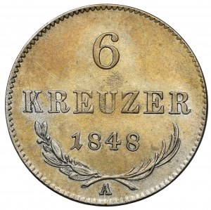 Austria, Ferdynand I, 6 krajcarów 1848-A