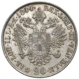Austria, Ferdynand I, 20 krajcarów 1844-C