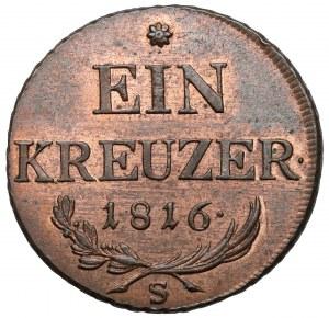 Austria, Franciszek I, 1 krajcar 1816-S