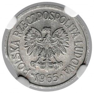Destrukt 10 groszy 1965 - końcówka blachy