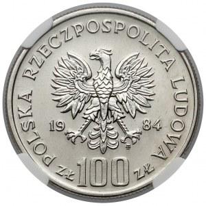 Próba NIKIEL 100 złotych 1984, 40 lat PRL