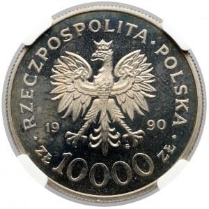 10.000 złotych 1990 Solidarność - LUSTRZANKA