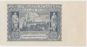 20 złotych 1940 - bez poddruku, serii i numeru