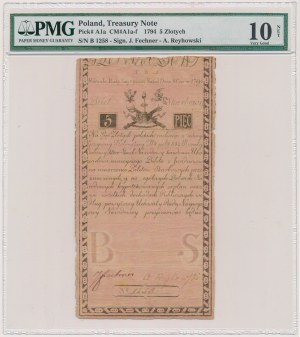 5 złotych 1794 - N.B 1.