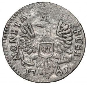 Elżbieta, Szóstak dla Prus 1761, Królewiec