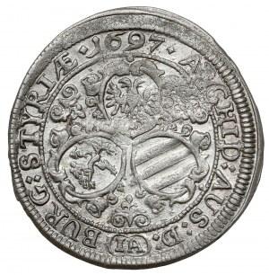 Austria, Leopold I, 3 krajcary 1697, Graz
