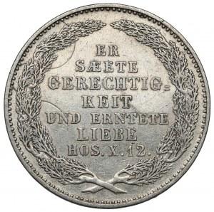 Saschen, Friedrich August II, 1/3 taler 1854 - Der Tod des Königs