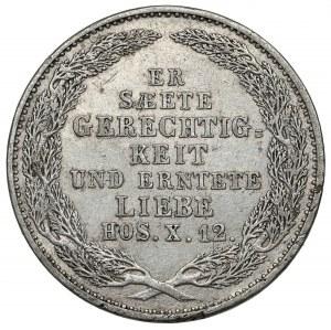 Saschen, Friedrich August II, 1/6 taler 1854 - Der Tod des Königs