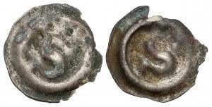 Sweden, Albrecht of Mecklenburg (1364-1389) Brakteat Penning, lot (2pcs)