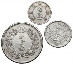 Japan - lot of 3 silver cons (3pcs)