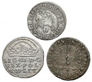 Zygmunt III Waza, Grosze Kraków i Wilno 1605-1626 (3szt)