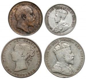 Newfoundland (Island) and Canada, 1/2 Penny - 50 cents, lot (4pcs)