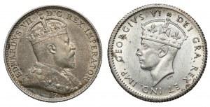 Newfoundland (Island) and Canada, 5 cents 1902-1941 (2pcs)
