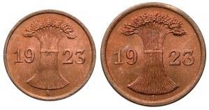 Germany, 1 and 2 Rentenpfennig 1923, lot (2pcs)