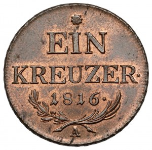 Austria, Franciszek I, 1 krajcar 1816-A - piękny
