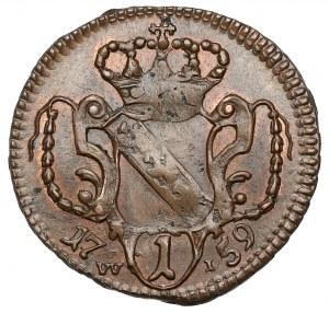 Austria, Franciszek I, Fenig 1759 WI - piękny