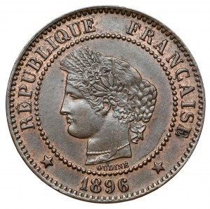 France, 2 Centimes 1896-A